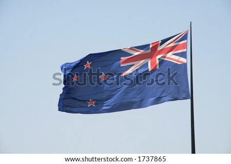 New zealand flag - stock photo