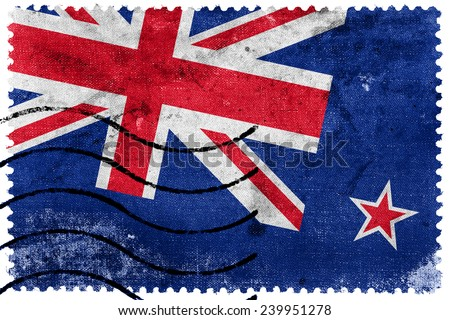 New Zealand Flag - old postage stamp