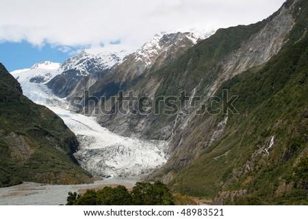 New Zealand glacier - stock photo
