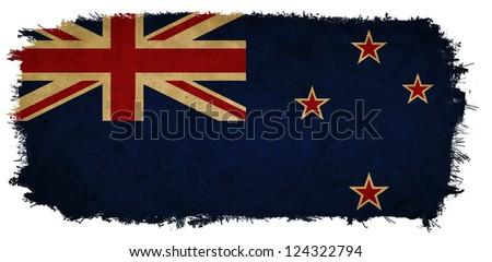 New Zealand grunge flag - stock photo