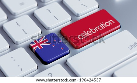 New Zealand High Resolution Celebration Concept