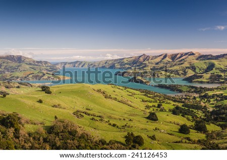 New Zealand pristine scenery before sunset