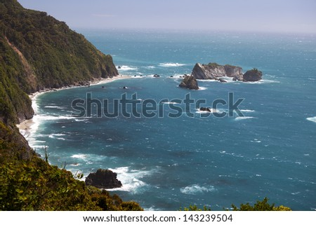New Zealand - South Island, Meybille Bay in Tasman Sea