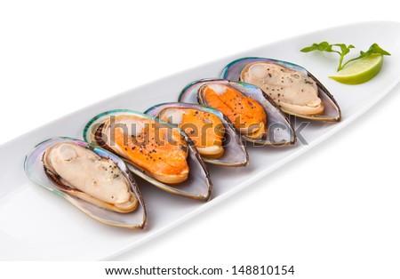 New Zeland Greenshell Mussel - stock photo