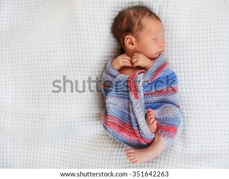Newborn baby boy 10 day old sleeping