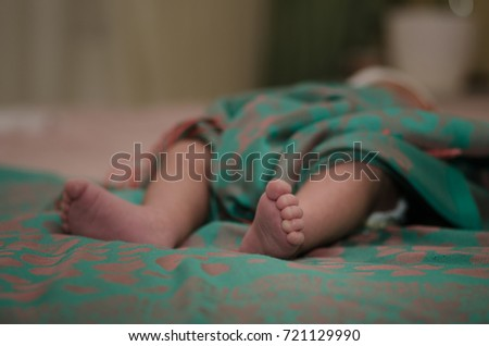 Newborn Baby Being Examined Delivery Room Stock Photo