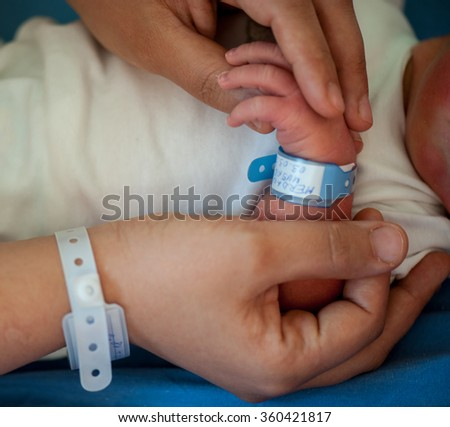 Newborn baby first days of life