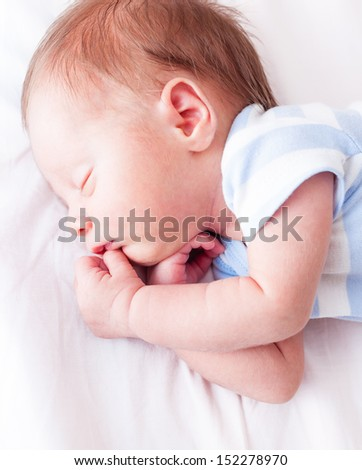 Newborn baby sleeping.