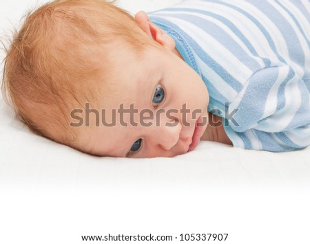 Newborn Baby With Open Eyes