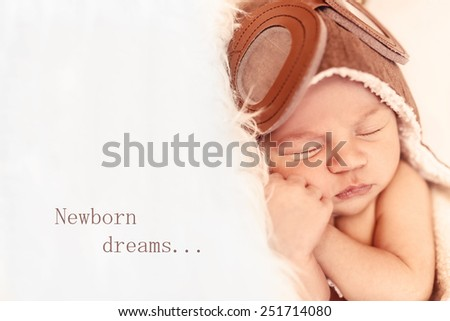 newborn dreams. - stock photo