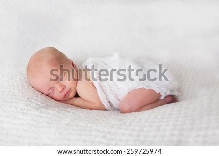 Newborn Sleeping - stock photo
