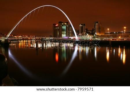 Newcastle - Millenium bridge - stock photo