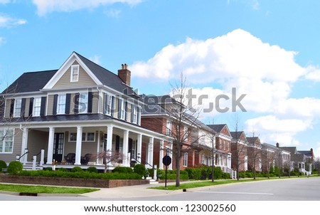 Newly Built Suburban Neighborhood - stock photo