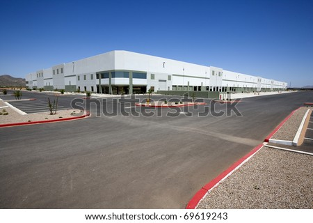 Newly constructed Distribution Center - stock photo