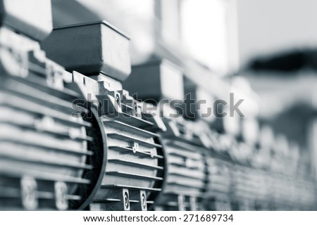 newly manufactured spare parts in factory - stock photo