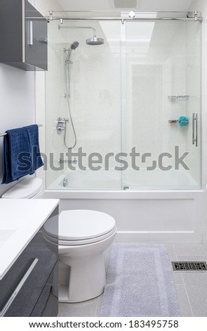 Newly Renovated Bathroom - stock photo