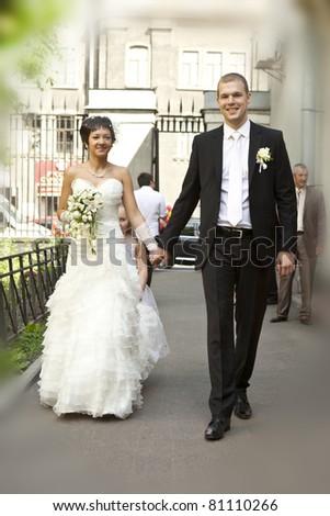 stock photo newlywed couple 81110266