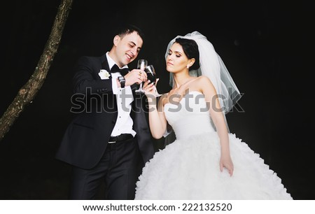 Newlywed couple together.  - stock photo