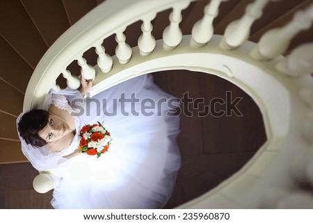 newlyweds house housewarming bride and groom - stock photo
