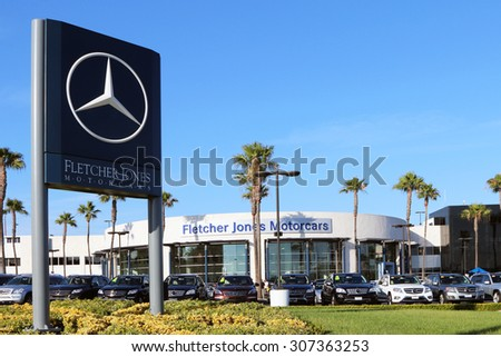 NEWPORT BEACH, CA AUGUST, 2015: Fletcher Jones Mercedes Benz Dealership Is  One