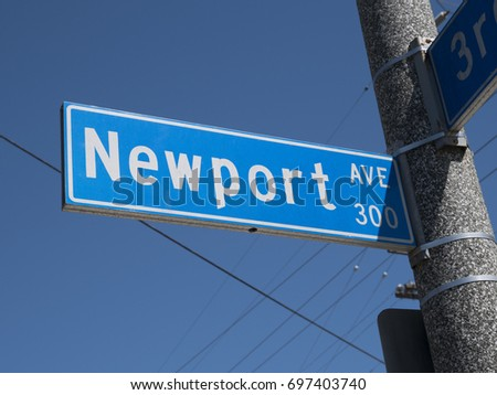Newport Beach Street Sign