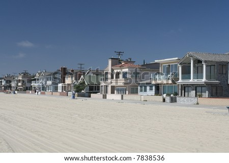 Newport Beach Waterfront - stock photo