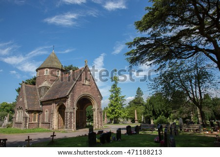 Newport, Wales - 6 August, 2016: St Woolos Cemetery in Newport for the filming location for the burial of Sherlock, the BBC drama series starring Benedict Cumberbatch