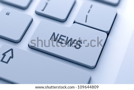 News button on keyboard with soft focus