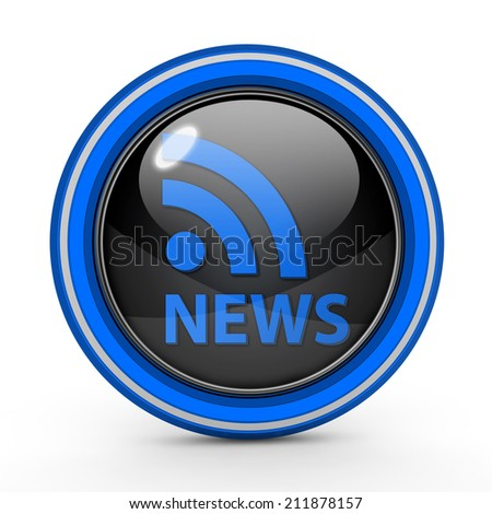News circular icon on white background