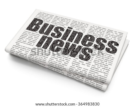 News concept: Business News on Newspaper background - stock photo