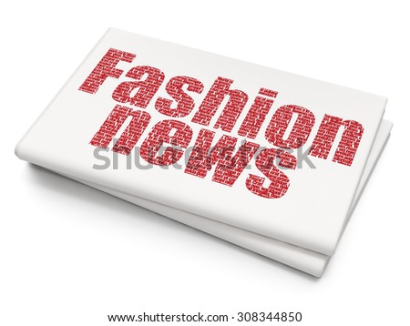 News concept: Fashion News on Blank Newspaper background - stock photo