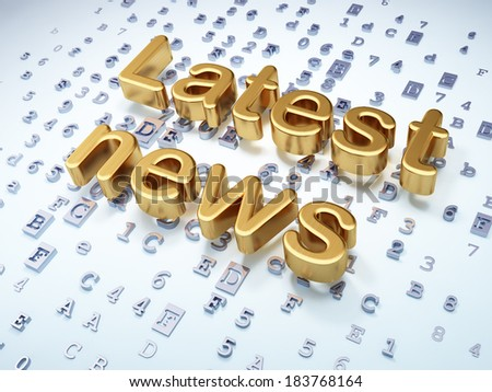 News concept: Golden Latest News on digital background, 3d render - stock photo