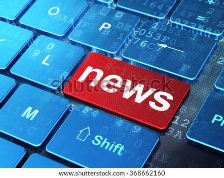 News concept: News on computer keyboard background - stock photo