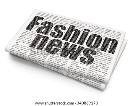 News concept: Pixelated black text Fashion News on Newspaper background - stock photo
