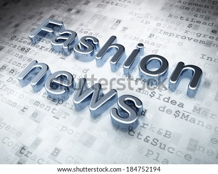 News concept: Silver Fashion News on digital background, 3d render - stock photo