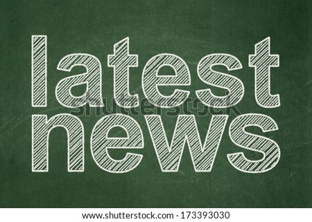 News concept: text Latest News on Green chalkboard background, 3d render