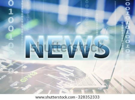 news concept with business background