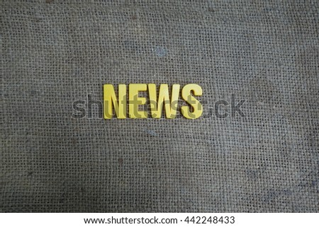 News concept. Yellow letters on background