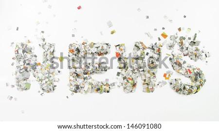 News confetti - stock photo