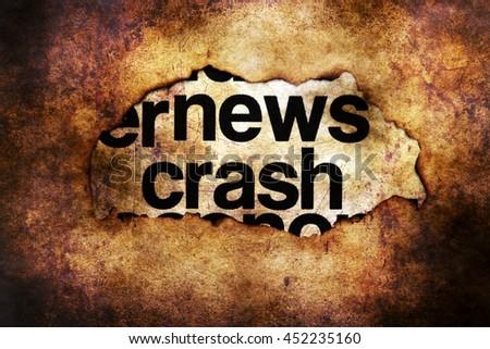 News crash grunge concept - stock photo