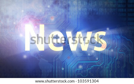 news Full collection - stock photo