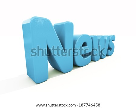News icon on a white background. 3D illustration