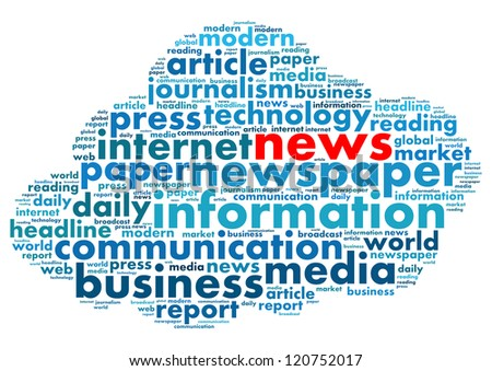 News in word collage
