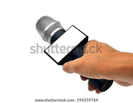 News Interview - stock photo
