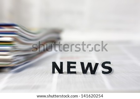News letters on newspapers - stock photo