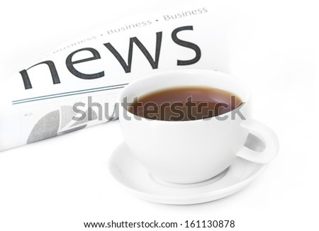 news message on work place  - stock photo