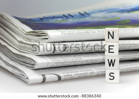 news newspaper business abstract information - stock photo