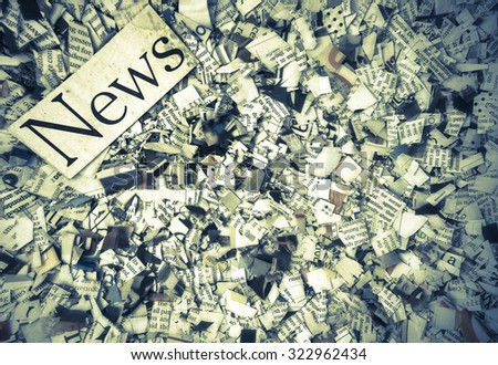news paper confetti concept - stock photo