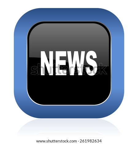 news square glossy icon 
