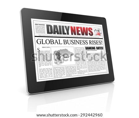 news tablet - stock photo